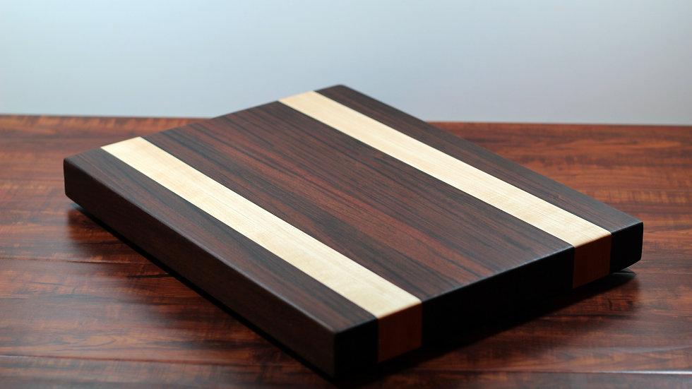Ironwood and Maple Horizontal Cutting Board