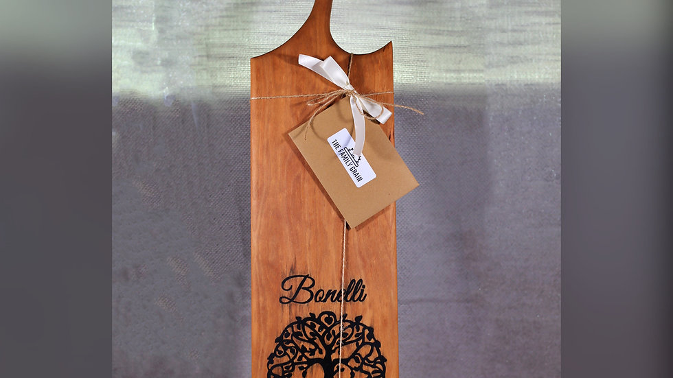 Chacuterie Board With Tree Epoxy Inlay