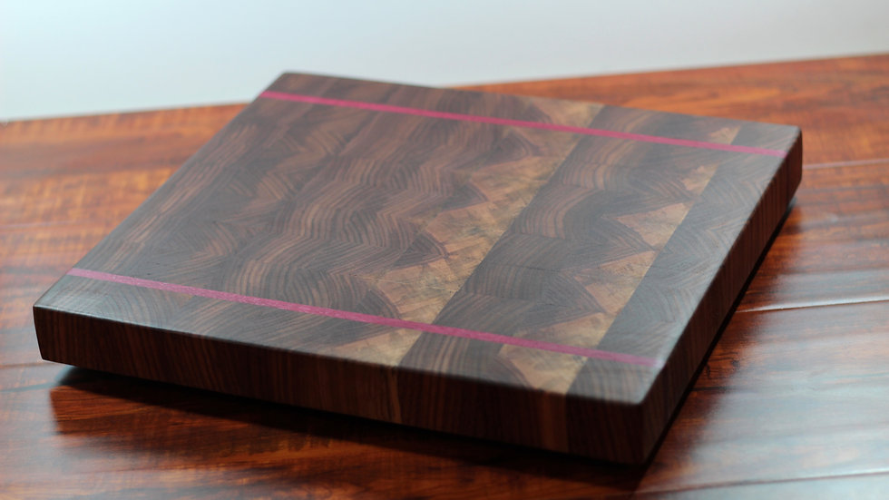 Endgrain Walnut and Purple Heart Cutting Board