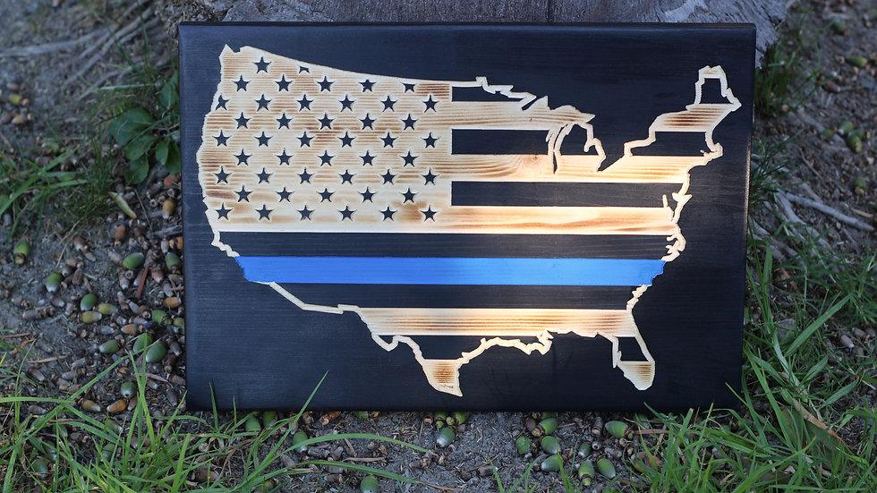 Thin Line USA Flag