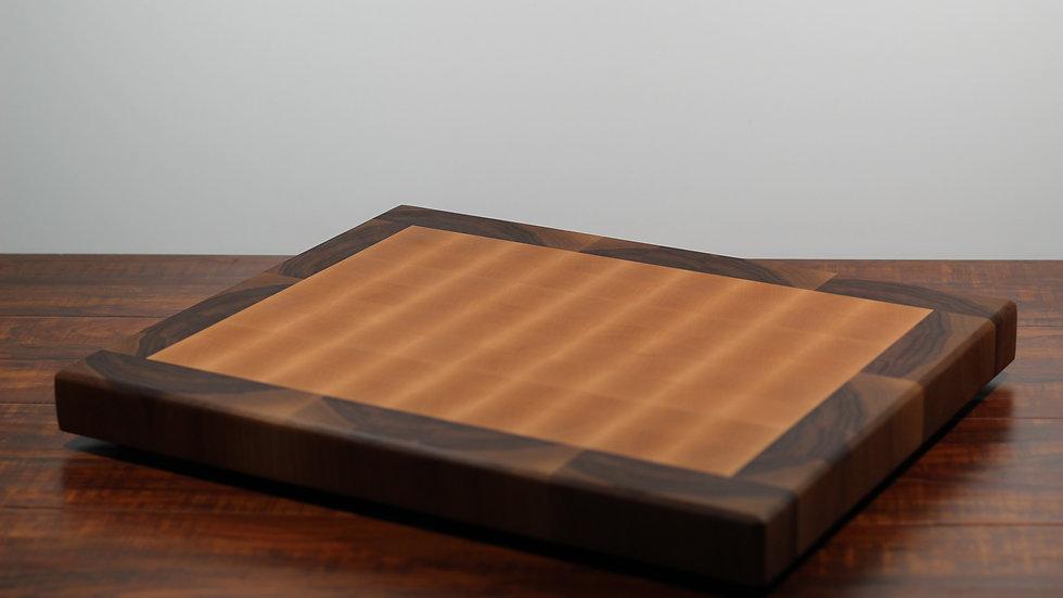 Large Walnut and Maple Endgrain Cutting Board