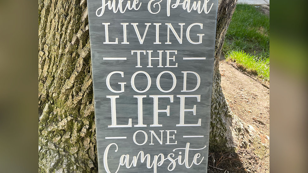 Personalized Camping Wooden Sign