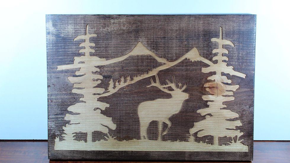 Woodsy Mountain Wooden Sign