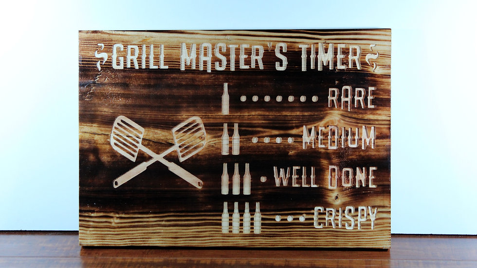Grill Master Wooden Sign