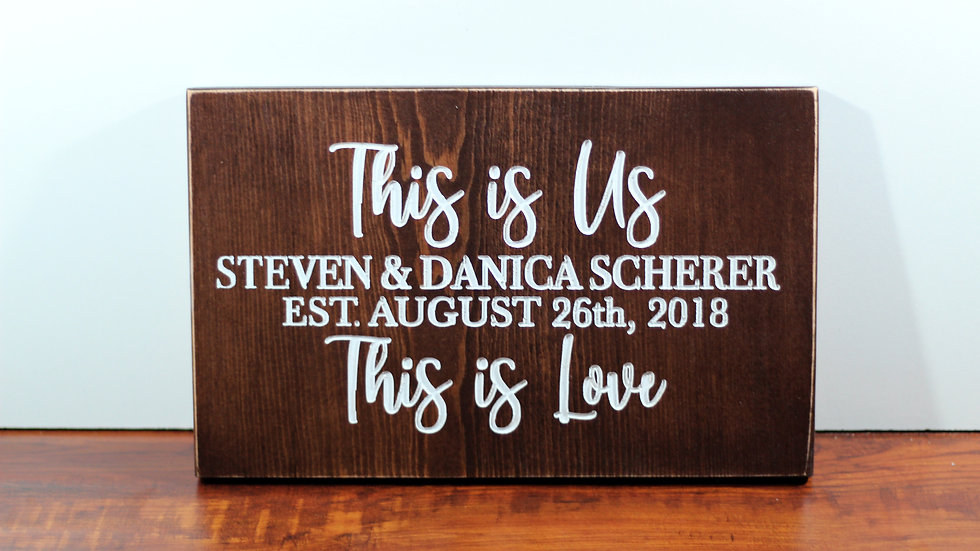 This is Us This is Love Custom Wooden Sign