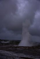 Geyser Blast at Geysir