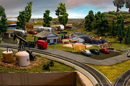Model Train Oil Well