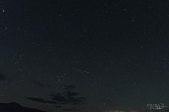 A Perseids Meteor streaks across the Northern sky