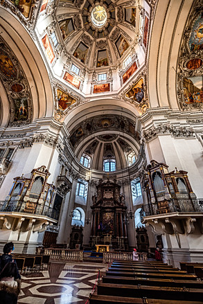 Salzburg Cathedral - Altar and Ceiling