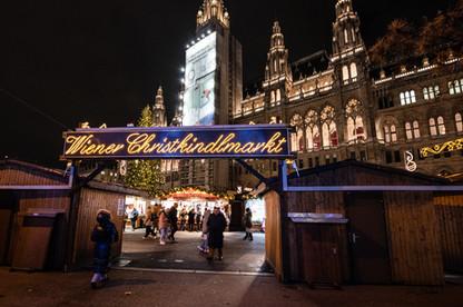 Christmas market at RathausplaSide Entrance