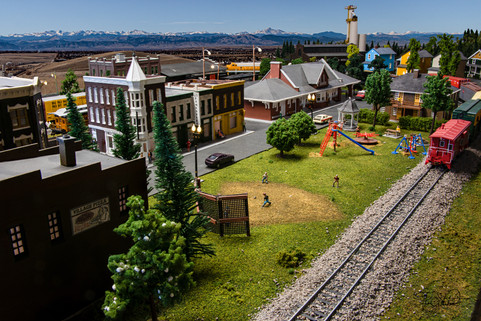 Model Train Park and Train Station