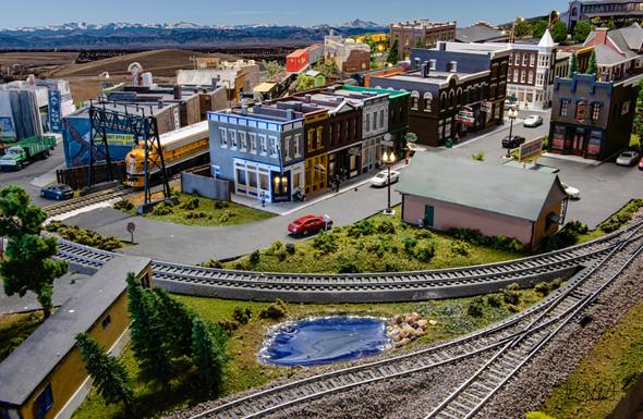 Model Train Downtown