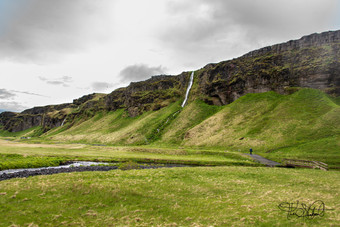 Waterfall west of Seljalandsfoss