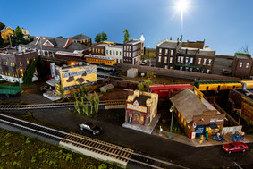 Model Train Old Town and New Town