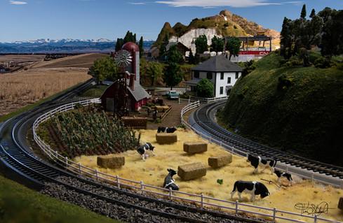 Model Train The Farm