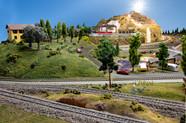 Model Train - Villa, Lake and Long's Peak
