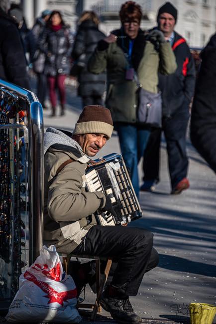 Salzburg Austria - Street Musician