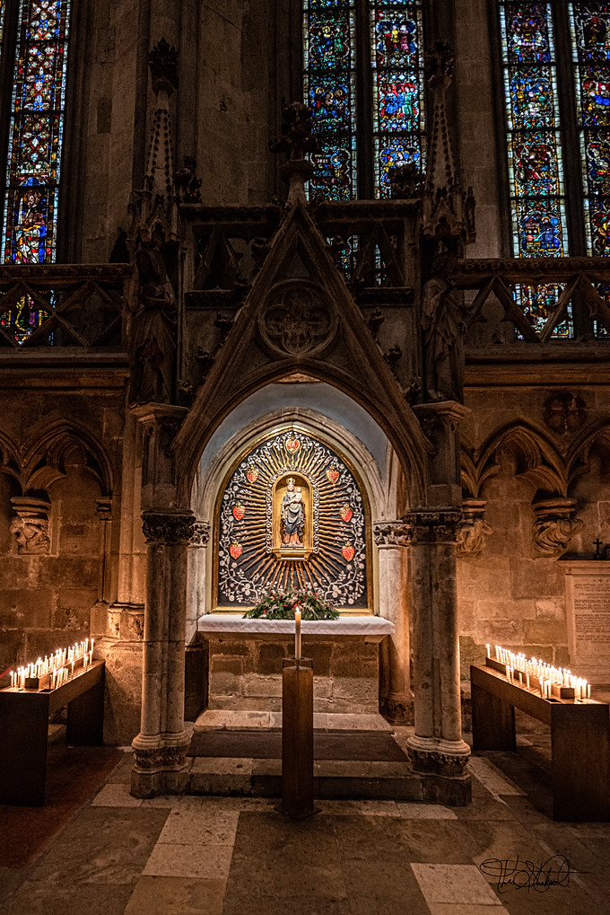 Regensburg - St Peter's Cathedral Altar and Candles