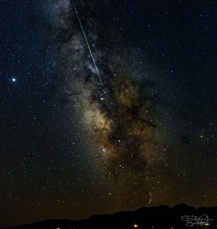 Milky Way with Meteor - Enhanced
