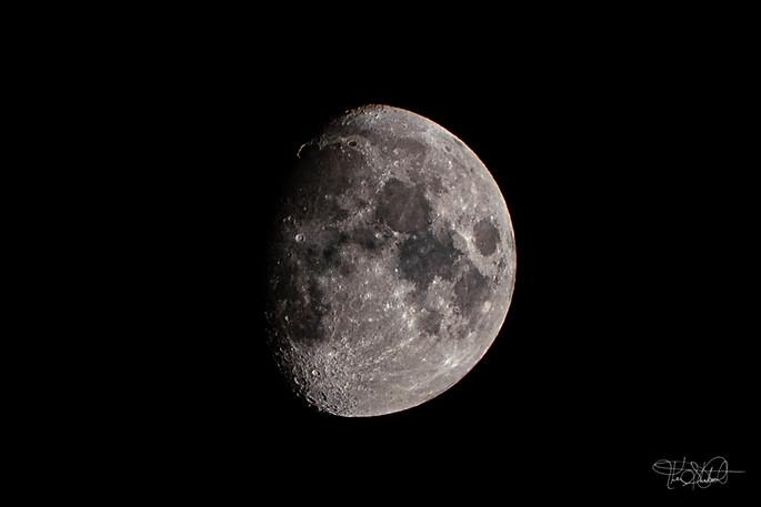 Moon Waxing Gibbous Phase