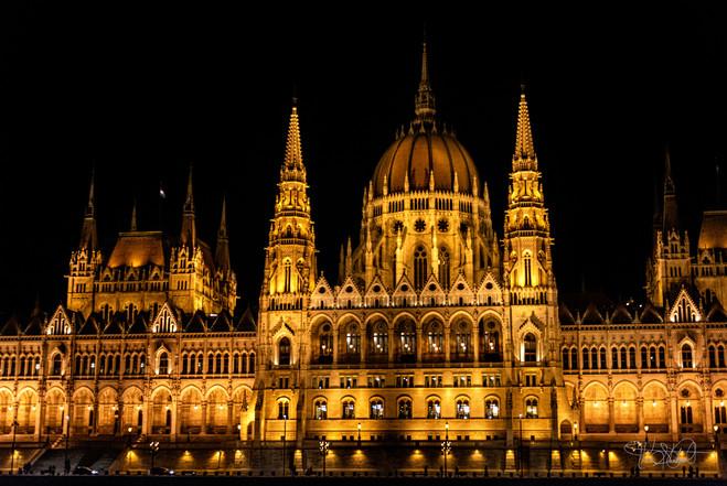 Hungarian Parliament Building - closeup