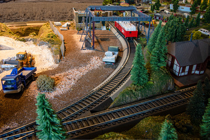 Model Train Quarry Dock