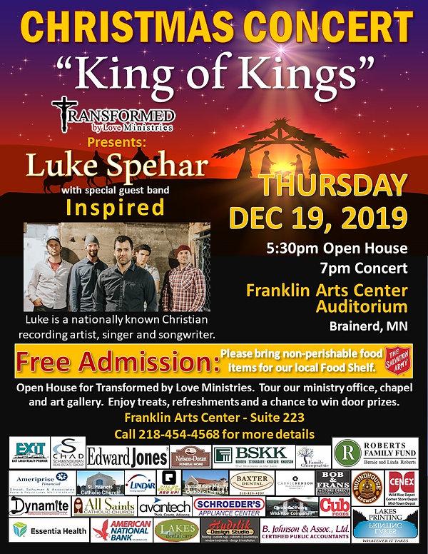 Luke Spehar Christmas Concert Event Post