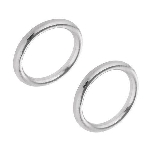 Stainless Steel Rings (pair)