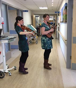 Music, hospital, healthcare, ward, fiddle, ukulele