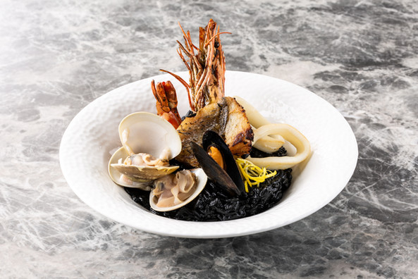 Squid Ink & Seafood Risotto