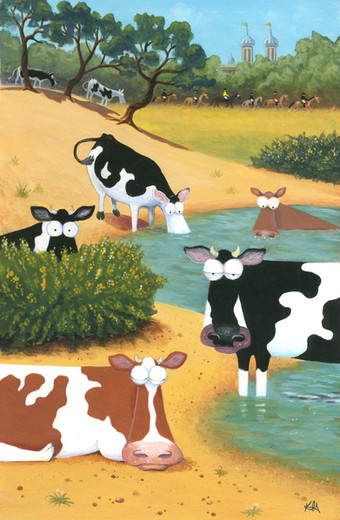 At the Watering Hole by Karen Humpage