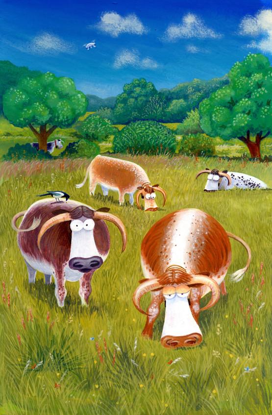 Longhorns by Karen Humpage