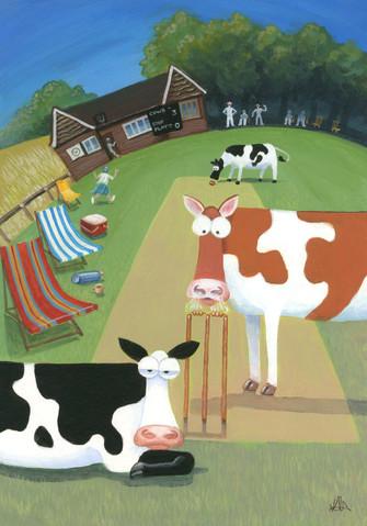 Cows stop play by Karen Humpage
