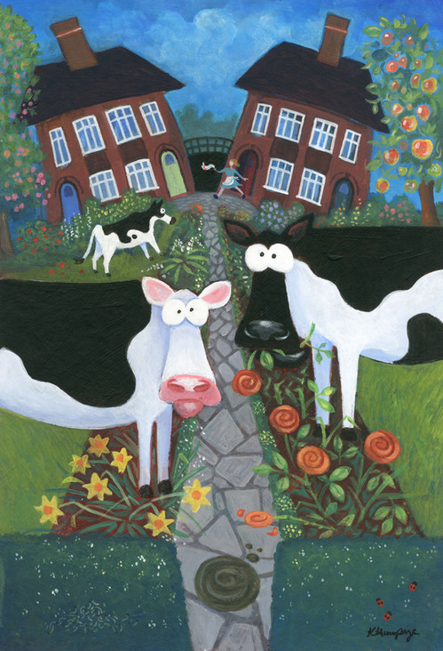 Cows in my Front Garden by Karen Humpage