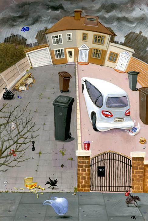 21st century front garden by Karen Humpage