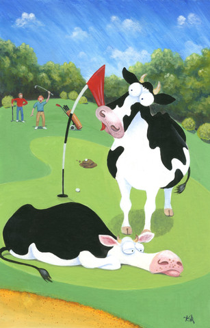 Holed up at the 14th by Karen Humpage