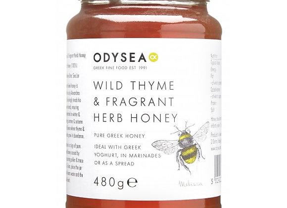 Odysea Greek Wild Thyme & Fragrant Herb Honey 480g