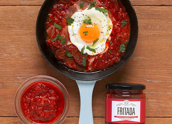 Brindisa Fritada, tomato and piquillo pepper sauce, jar.