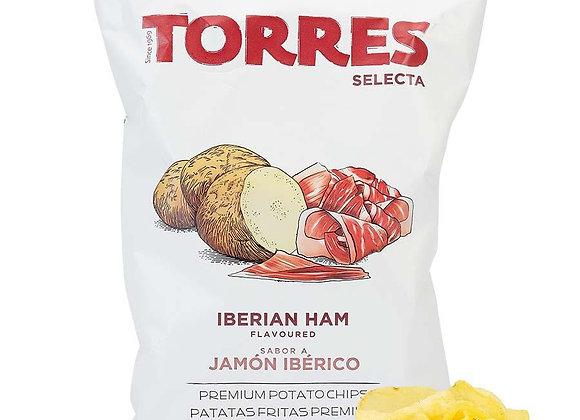 Iberian ham potato crisps 150g
