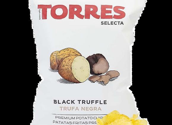 Torres black truffle potato crisps, bag. Catalua