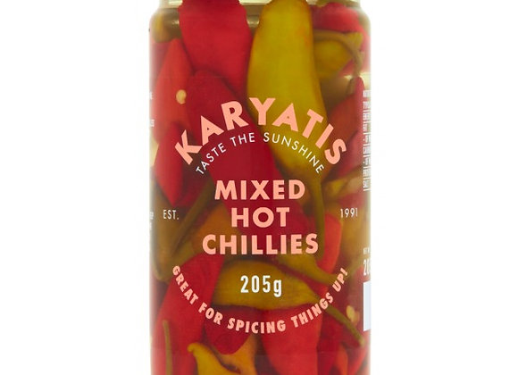 Karyatis Mixed Chilli Peppers 205g