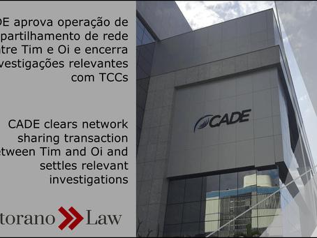 CADE aprova operação de compartilhamento de rede entre Tim e Oi e encerra investigações relevantes c