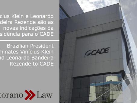 Vinícius Klein e Leonardo Bandeira Rezende são as novas indicações da Presidência para o CADE | Braz