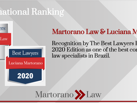 Martorano Law and Luciana Martorano recognized by the international ranking Best Lawyers