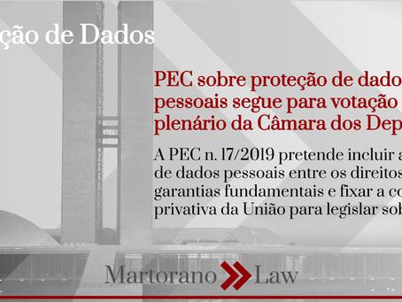 PEC sobre proteção de dados pessoais segue para votação pelo plenário da Câmara dos Deputados