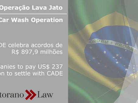 Operação Lava-Jato: CADE celebra acordos de R$ 897,9 milhões | Car Wash Operation: Companies to pay