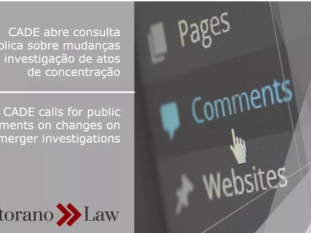 CADE abre consulta pública sobre mudanças em investigação de atos de concentração | CADE calls for p
