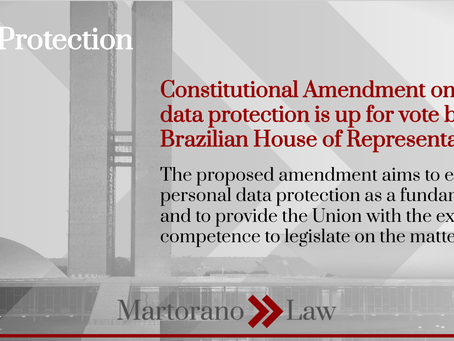 Constitutional Amendment on personal data protection is up for vote by the Brazilian House of Rep.