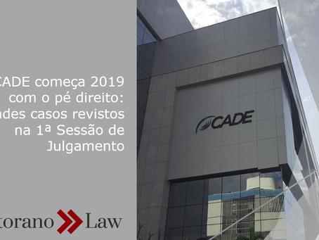 CADE começa 2019 com o pé direito: grandes casos revistos na 1ª Sessão de Julgamento