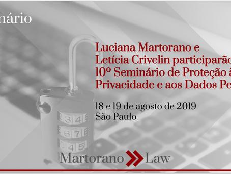 Martorano Law participará do 10º Seminário de Proteção à Privacidade e aos Dados Pessoais